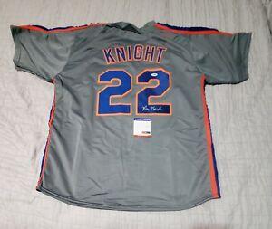 RAY KNIGHT Mets Autographed signed Custom  Baseball Jersey PSA COA sz XL