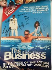 The Business Cast Signed Poster Nick Love Film AFTAL OnlineCOA