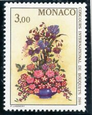 TIMBRE DE MONACO N° 1660 ** FLORE  BOUQUET DE FLEURS FUCHSIAS ROSE IRIS PETUNIAS