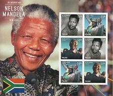 Palau 2013 MNH Nelson Mandela In Memoriam II 6v M/S Death ANC Leader Winnie