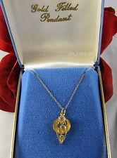 Necklace Feral Cat Rescue Vintage Sparkling Gold Filled Nib