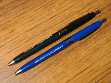 NEW (2) Skilcraft US Government (1) Black (1) Blue Ballpoint Ball-Point PENS