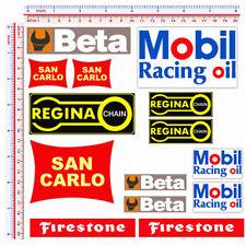 Adesivi sticker regina chain firestone mobil beta san carlo print pvc 14 pz.
