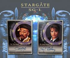Teryl Rothery A3 & Vince Crestejo A7 autograph cards Stargate SG-1 Premiere 2001