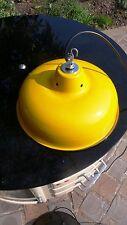 Lampe Abat Jour Industriel Suspension Métal Tôle émaillée Jaune Atelier Usine