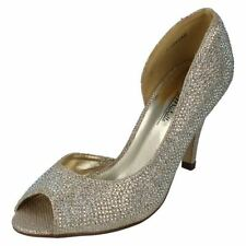 Stiletto Peep Toe Textured Heels for Women