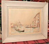 Antique  RAFFAELE MAINELLA Original Authentic Signed Watercolor Painting w/Frame