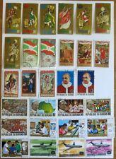 Briefmarken Burundi  auf 6 Seiten keine doppelt viele Motive