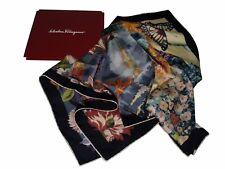 Salvatore Ferragamo Foulard Silk Print Flowers and Birds