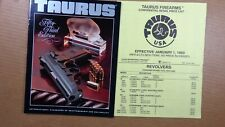 1993 Taurus Firearms Catalog Hunting 53RD EDITION  ALL PISTOLS  retail price lis