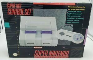 Super Nintendo Entertainment System Control Set BOX ONLY Has Wear