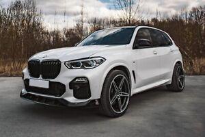 BMW X5 G05 M Performance AC Style Fiberglass Front Lip Painted Glossy Black