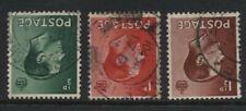 1936 ½d-1½d Keviii Inverted Wmk Set Vfu. Sg 457-9wi