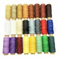 Wax Threads Cord For Sewing Leather Stitching Knitting Yarn Accessory 24pcs/set