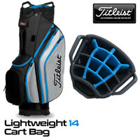 Titleist Lightweight 14-WAY Golf Cart Bag Black/Grey/Process Blue - NEW! 2020