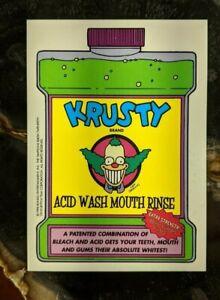 1998 Bongo - The Simpsons Sticker - Krusty Brand Acid Wash Mouth Rinse