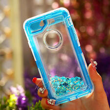 Quicksand Glitter Dynamic Clear Liquid Rugged Clip Case Cover For iphone 7 6S +