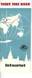 MK-035 USSR Visit, Russia Intourist Travel Brochure Early 1962 Vintage Illust