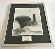 More details for original royal navy stamped photograph, 'hms oracle' rededication, rosyth 1989