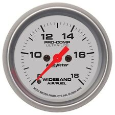 "Auto Meter 4370 2-1/16"" Wideband Air/Fuel Ratio Gauge Analog AFR Ultra-Lite"