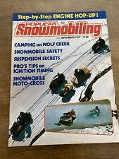 1973 November Popular Snowmobiling Snowmobile Magazine