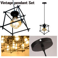 Modern Cage Loft Ceiling Pendant Light Lampshade Chandelier Light optional bulb