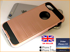 """iPhone 7 4.7"""" – Stylish Protective Hard Armour Shockproof Rose Gold Case Cover"""