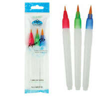 Royal & Langnickel Aqua-Flo Water Refill Watercolour Paint Brush Set of 3