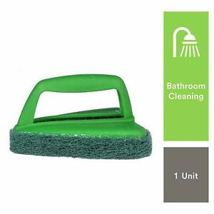 Scotch-Brite Bathroom Brush with Abrasive Fibre Web (Green) + Free Shipping