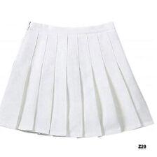 Sangtre Junior Teen Girls Womens High Waist School Uniform Cosplay Pleated Skirt