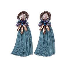 De Mujer Bonito Diseño Boho con Flecos Tendencia Cristal Borla Pendientes Gota