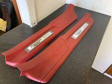 Honda S2000 Ap1 Ap2 Door Kick Plate Red Set Emblem