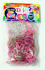 1200 Pcs Kids DIY Rubber Rainbow Loom Bands Refills With S Clips Bracelet Making