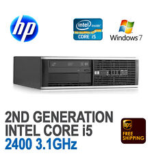 HP 8200 SFF Desktop Computer PC i5-2400 3.1GHz 4GB 250GB WiFi Windows 7 Pro