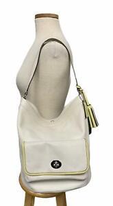 Coach Leather Legacy Archival Handbag Tote Bucket Purse Tassels 22407 Off White