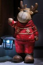 Outdoor Solar Reindeer With LED Lantern Garden Christmas Decoration (tiny chip)