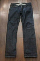 *** Naked & Famous Jeans Dry Blue Indigo Size 38x34.5 *F1031a8