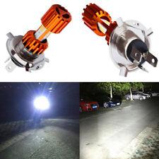Motorcycle H4 COB LED Bulb Driving Light Lamp Hi/Lo Beam Headlight 6000K White