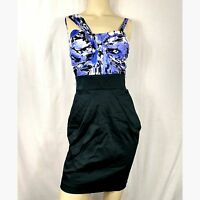 bebe Hayley New cocktail party Dress.  Black / Purple Women's Small