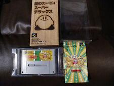 Nintendo Hoshi No Kirby Super Star Deluxe Super Famicom CIB + BONUS PROTECTOR