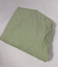 Pottery Barn Kids Crib Sheet One Size Green White Gingham Fitted Cotton