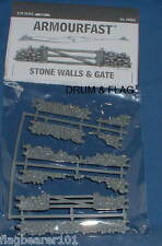 ARMOURFAST 79002. STONE WALLS & GATE. 1/72 SCALE UNPAINTED PLASTIC KIT