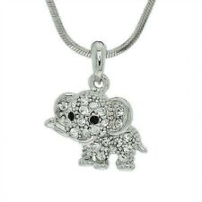 """ELEPHANT MADE WITH SWAROVSKI CRYSTAL GOOD LUCK NEW PENDANT NECKLACE 18"""" CHAIN"""
