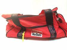 Vtg Marlboro Insulated Bag Cooler Picnic Beer Tote Duffle Lunchbox LG lizardrock