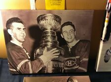 JEAN BELIVEAU & MAURICE RICHARD Cup 16x20 Montreal Canadiens NHL Canvas Print