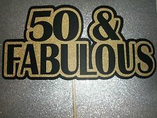 DIY - 50th Birthday Photo Booth Props  Glitter Paper Gold Sparkle (2125D)