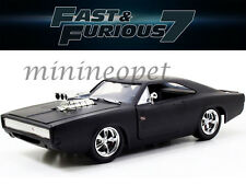 JADA 97174 FAST AND FURIOUS 7 DOM'S 1970 70 DODGE CHARGER R/T 1/24 MATTE BLACK