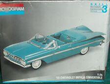 MONOGRAM 1959 CHEVY IMPALA CONVERTABLE  PLASTIC KIT SEALED 1/25 SKILL LEVEL 3