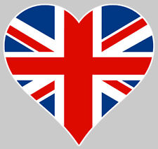 I LOVE ENGLAND HEART UK LONDON 10cm AUTOCOLLANT STICKER DECO AUTO (LA030)