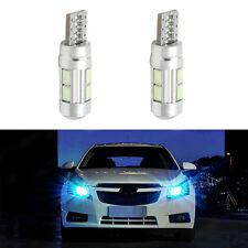 2X Ice Blue T10 W5W 5630 10SMD LED Car Wedge Side Light Bulb Lamp 168 194 192